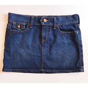 Old Navy Denim Mini Skirt Ultra Low Waist Sz 4